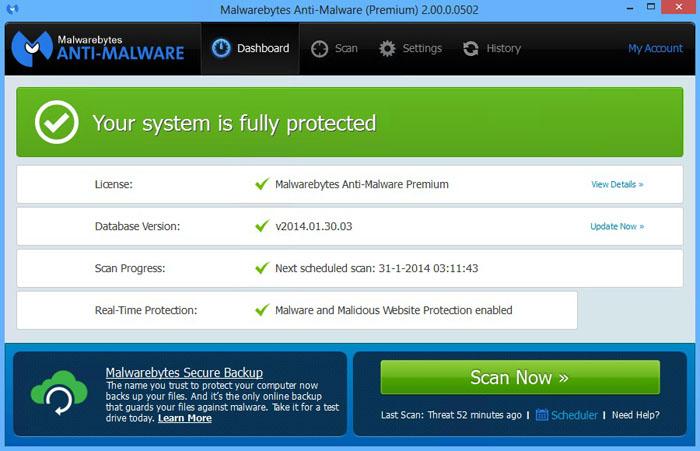 Malwarebytes Anti-Malware 2.0