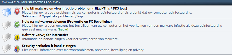 Malware en virusinfectie problemen