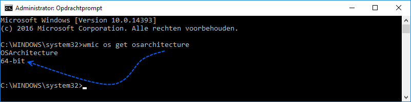 32 of 64 bits versie van Windows