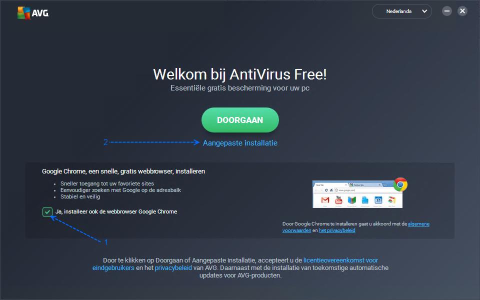 AVG Antivirus Free Installeren