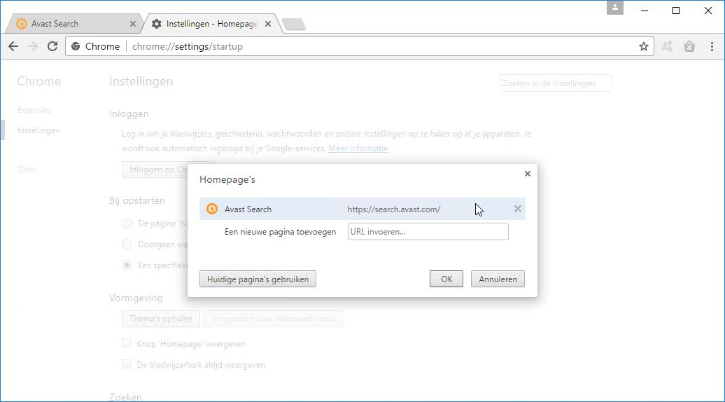 Avast Search Google Chrome