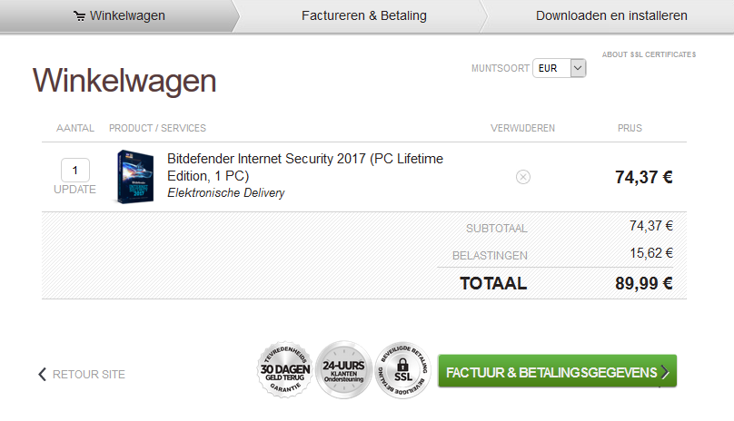 Bitdefender Internet Security Lifetime Edition