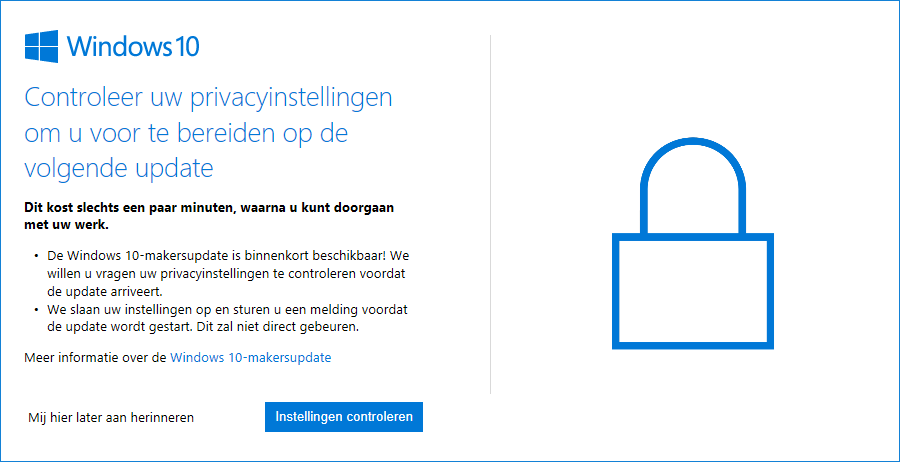 Controleer uw privacyinstellingen in Windows 10