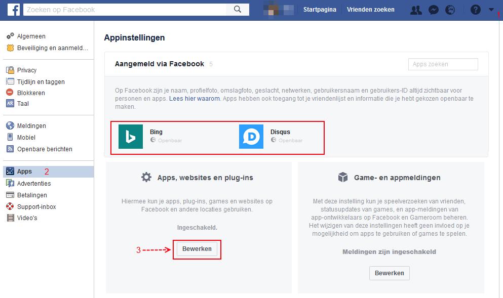Facebook virus verwijderen