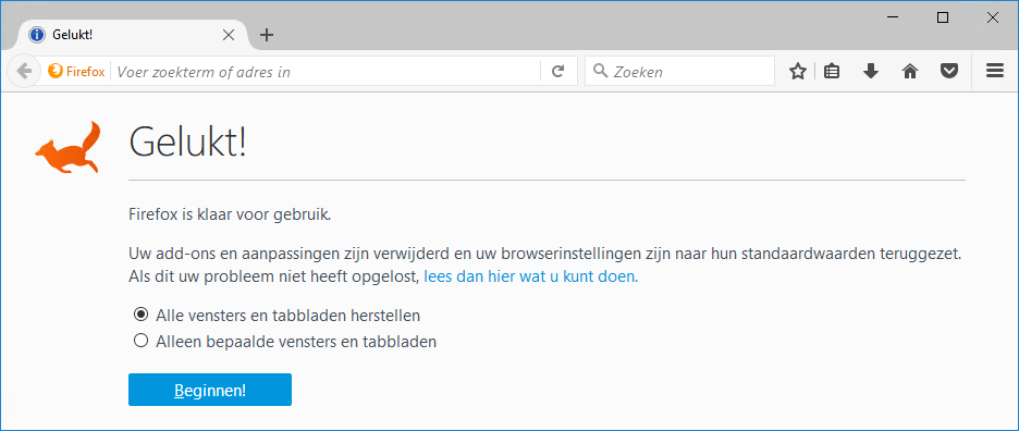 Firefox Herstellen Gelukt