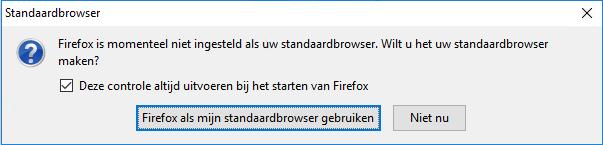 Firefox als standaard browser instellen