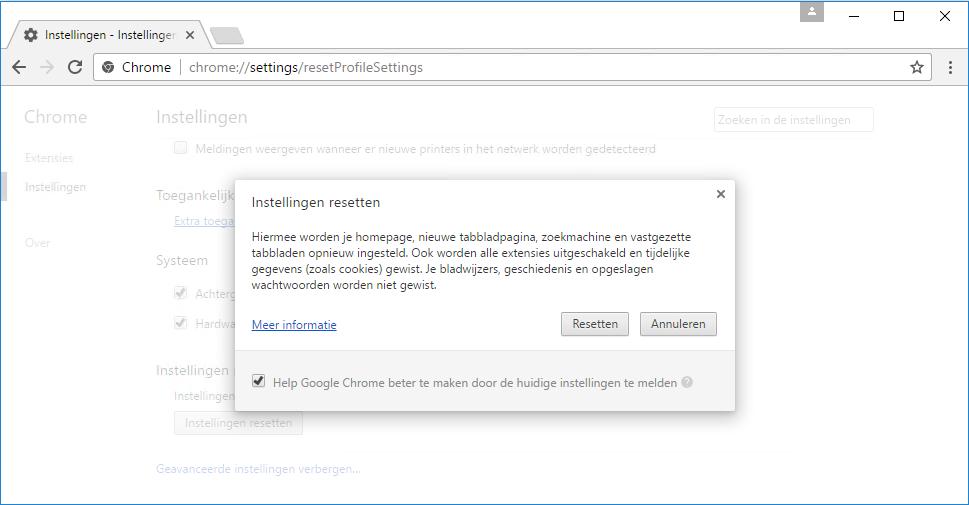 Google Chrome Herstellen