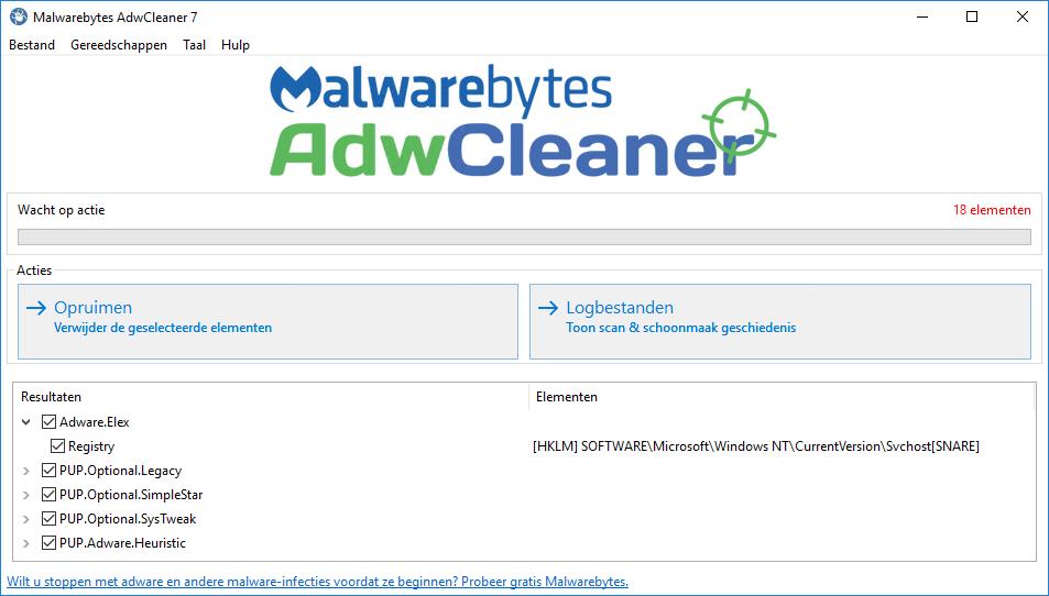 Malwarebytes AdwCleaner 7.0