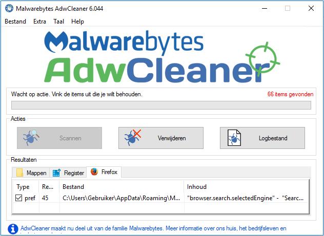 Malwarebytes AdwCleaner Scan