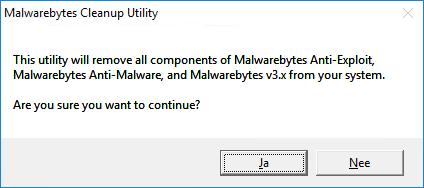Malwarebytes Cleanup Utility