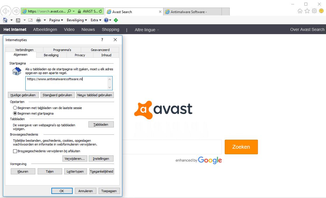Search.avast.com Internet Explorer