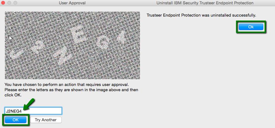 Mac OS Trusteer Rapport verwijderen bevestiging