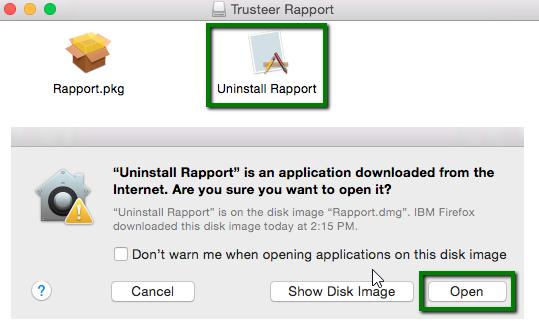 Trusteer Rapport verwijderen vanuit Mac OS