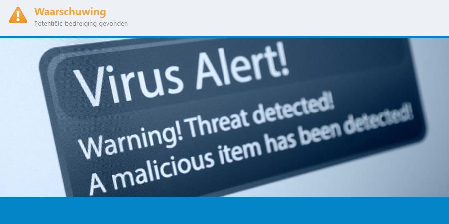 Virus of malware gevonden