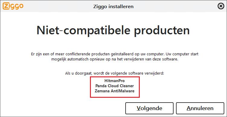 Ziggo Internetbeveiliging Compatibiliteit