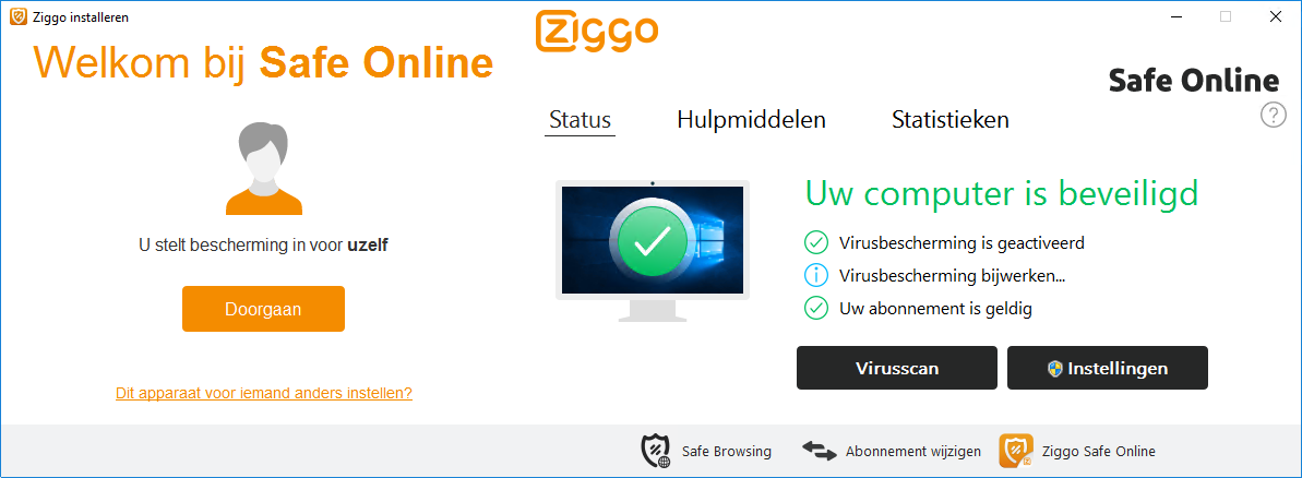 Ziggo Internetbeveiliging Safe Online